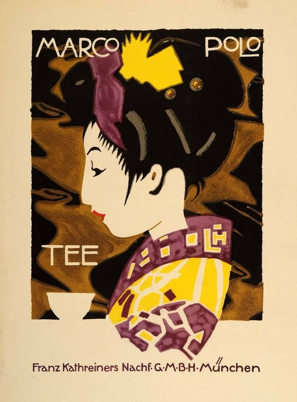 1926 Hohlwein Marco Polo Tea Poster  (Via periodpaper on eBay)
