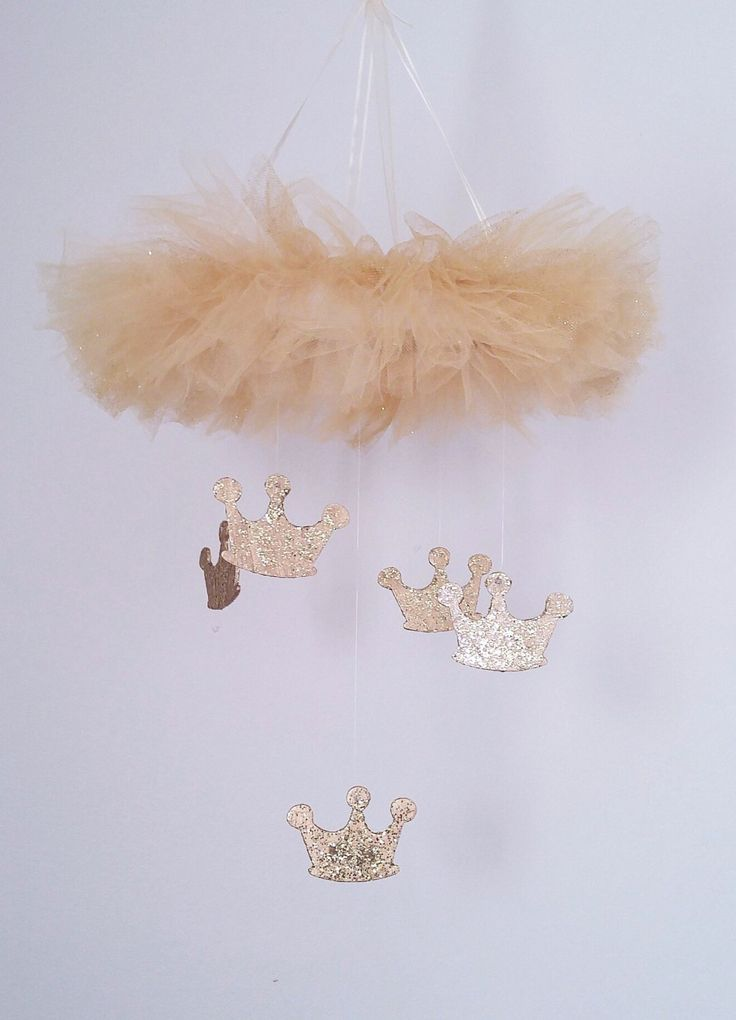 Gold Crown Mobile, Princess Mobile Princess Nursery Princess Decor Gold Mobile Gold Nursery Crown Decor Princess Wall art princess theme by LullabyVisions on Etsy https://www.etsy.com/listing/268431173/gold-crown-mobile-princess-mobile