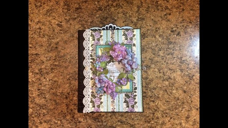 PART 1 TUTORIAL 7 X 9 MINI ALBUM WITH HEARTFELT CREATIONS BLUSHING ROSE ...