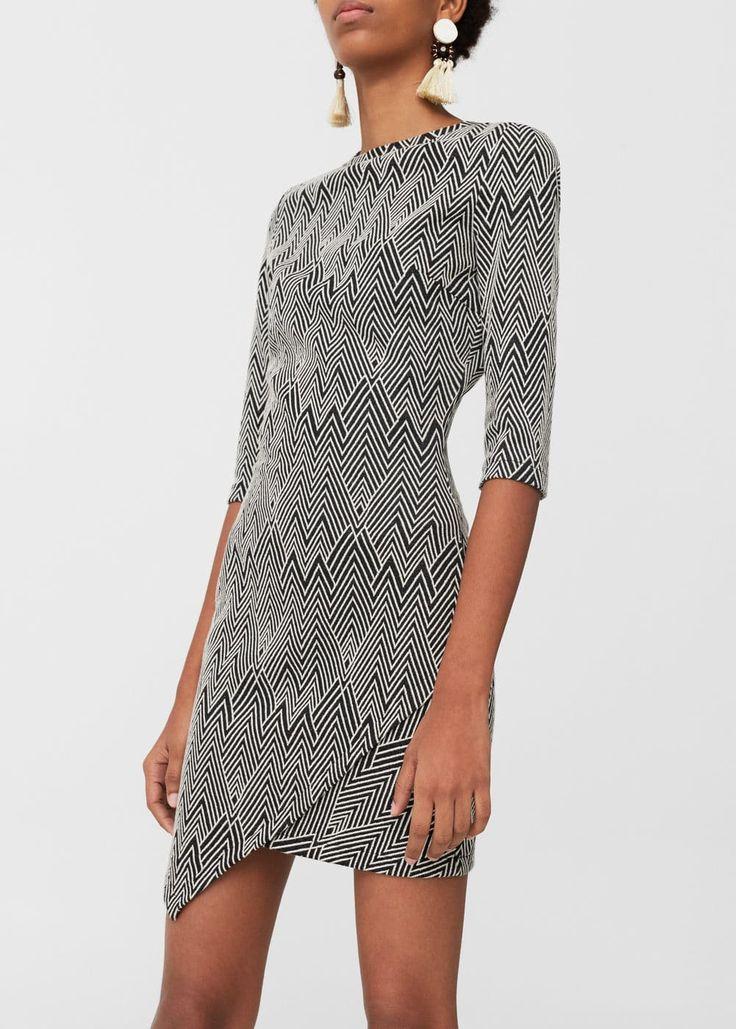 Textured cotton dress | MANGO