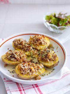 Auch toll für Gäste: Ofenkartoffeln mit Parmesan-Senf-Kruste