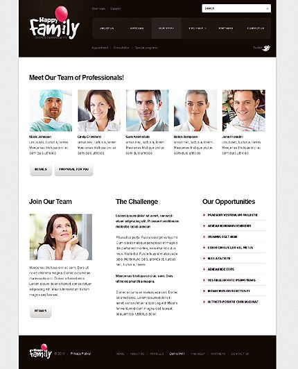 Family Website Template. blissful family website templates entheos ...