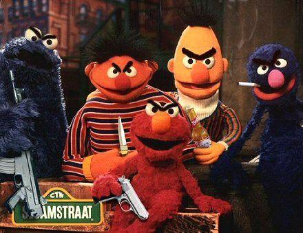 Evil Sesame Street: Sesamestreet, Big Bird, Funny Stuff, Funnies, Sesame Streets, Humor, Things, Funnystuff