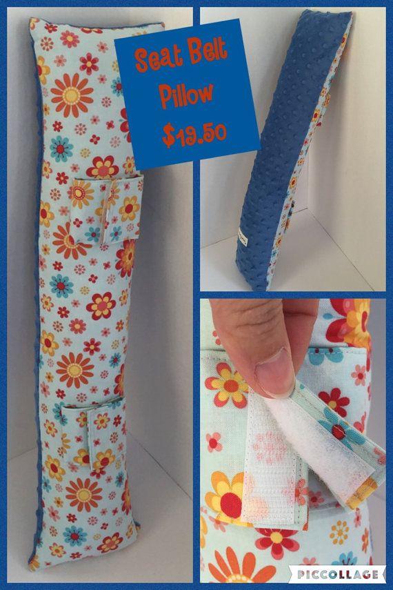 Seatbelt Pillow Car Seat Pillow Traveling Pillow by ShipleyMade
