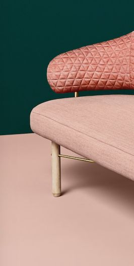 MISSANA sofa dressed in Kvadrat Remix textile