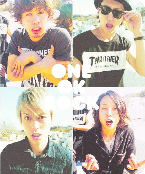 ONE OK ROCK! Taka, Toru, Ryota, and Tomoya! like em all!!