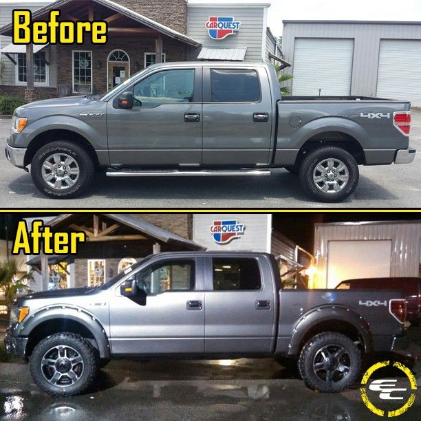 Before & After! 2012 Ford F150 With 20x9 18 Rockstar II Wheels & Bushwacker Fender Flares! #all_shots #boosted #carsofinstagram #carporn #customrims #cars #instalike #instadaily #instagood #picoftheday #photooftheday #rides #speed #sportscars #tires #wheels #rims #ecwheels #extremecustoms #ecgermany #extremecustomsgermany #ford #f150 #bushwacker #rockstar #KMC #xdseries