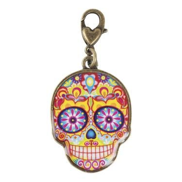 Thaneeya Sugar Skull 2 Charm Multicoloured