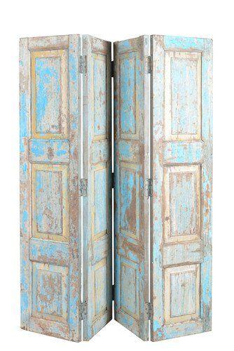 Divider Made of Old Teak Wood Doors//Diviseur de Chambre en Bois de Teck Ancien