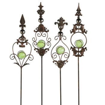 Glow in The Dark Garden Stakes set of 4  homedecoreveryday.com