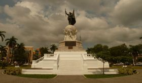Statue of Vasques Nuñex de Balboa on Ave. Balboa, Panama City, Panama. History of Panama:  Panama was discovered by the Spanish in the early 16th century.  - See more at: http://www.bestplacesintheworldtoretire.com/questions-and-answers/1149-what-is-the-history-of-panama#sthash.6kSqrKmV.dpuf
