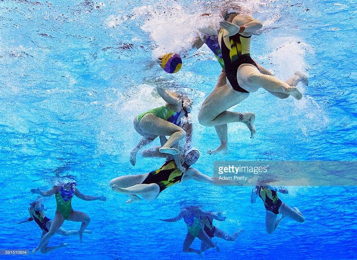 Gemma Beadsworth of Australia is smashed during the Women's Water Polo…