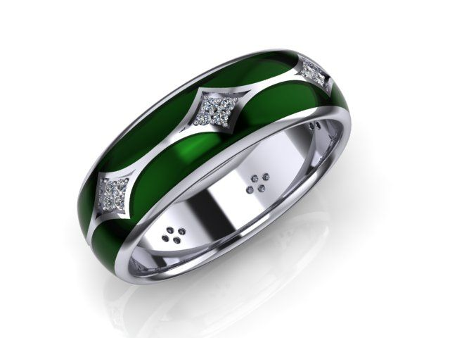GREEN SILVER RING VINCITORE/15008G - 65€ This ring is the modern and elegant solution for someone, who wants to celebrate their style with class but no flash. Designed with Cubic zirconia crystals embellishment in 925 sterling silver material without adds of Rhodium. Wear it with a traditional dress and heels for an amazing look.