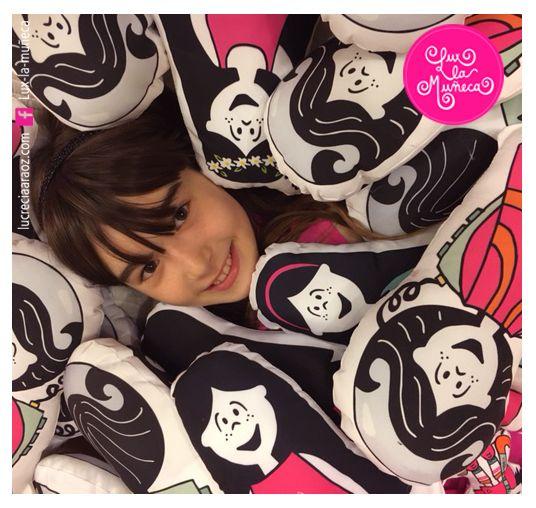 LUX LA MUÑECA #ilustracion #illustration #pink #muñeca #deco #kids #love # smile Facebook: lux la muñeca Ventas : tienda.citarte.net