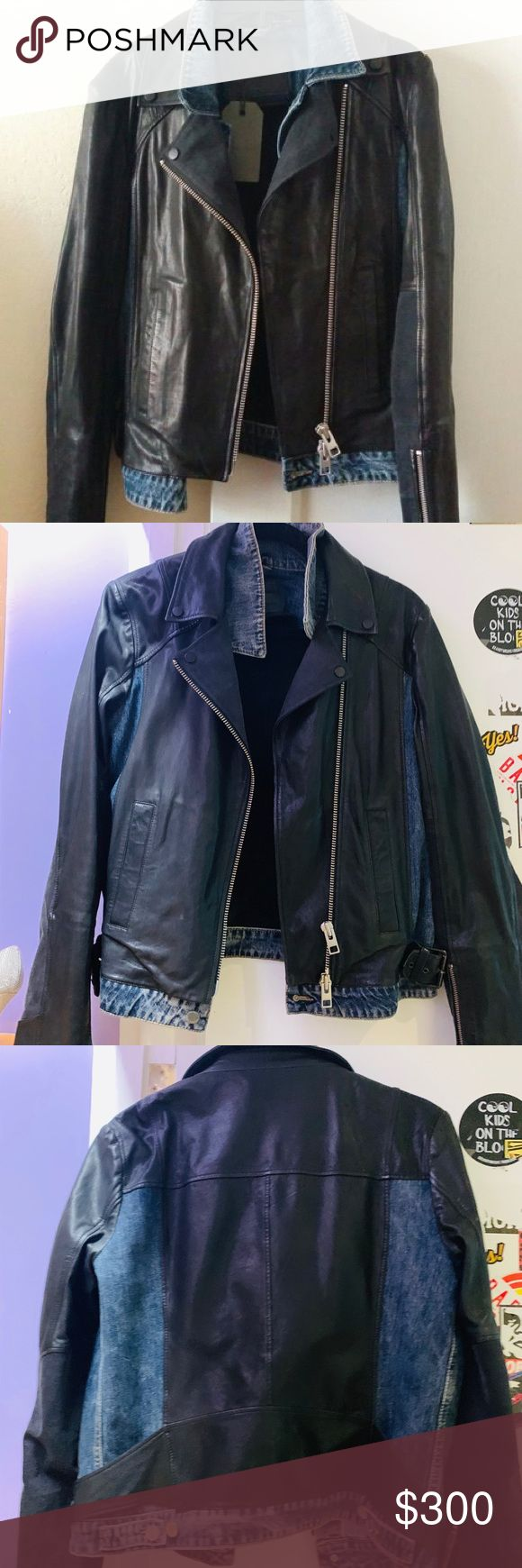 All saints DENIM Leather jacket All saints jacket with