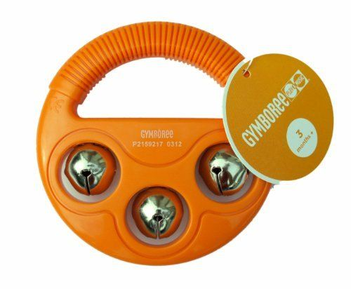 Gymboree Handy Bell by GYMBOREE. $9.99. Easy to grab by little hands and durable. Well designed and manufactured by GYMBOREE. This product meets or exceeds ASTM F963 toy safty standards. Three little bells make lovely sound. Widely used in gymboree classes. Loved by babies and moms. This little handy bell is designed for little hands to crab and shake, makes lovely sound. Good for baby at 3month and older. It's widely used in gymboree classes and loved by babies and moms