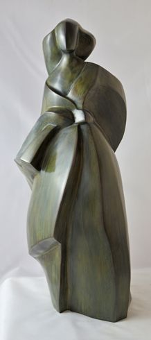 Sculpture contemporaine bronze un peu de vent pascale for Sculpture contemporaine