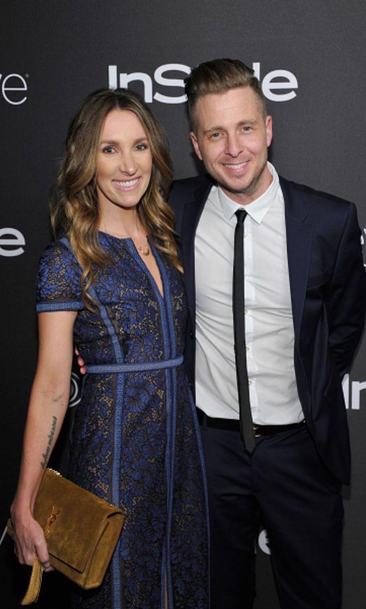 Ryan Tedder & wife Genevieve at the Golden Globes