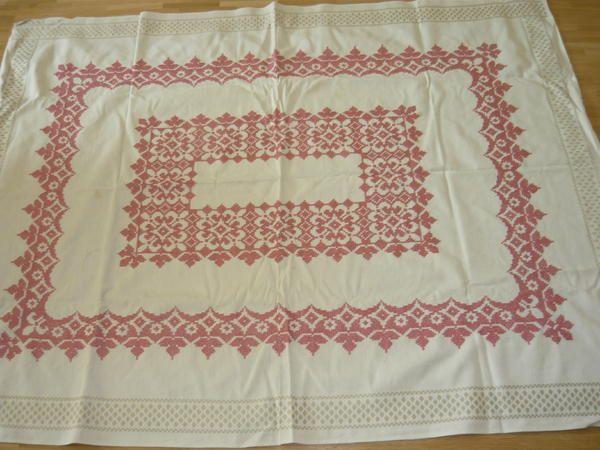 Tischdecke neu Kreuzstich » Handarbeit, Basteln aus München