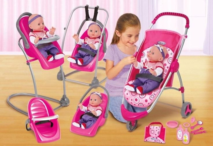Stroller Accessories Graco New Graco Baby Doll High Chair Swing Stroller Feeding Set