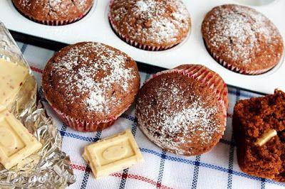 Di gotuje: Muffiny kakaowe z kostką białej czekolady