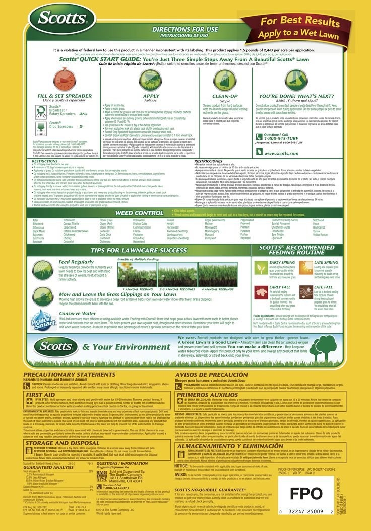 Scotts Turf Builder Weed and Feed Lawn Fertilizer - Lawn Care - Scotts