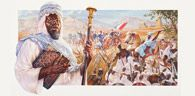 """Samory Toure The Black Napoleon of the Sudan (1830-1900) Ezra Tucker (artist)   When Samory Toure's native Bissandugu was attacked and his mother taken captive, he was allowed to take her place. He then escaped and joined the army of King Bitike Souane of Torona. He was soon made king and defied French expansionism in Africa, earning the name """"The Black Napoleon of the Sudan."""""""