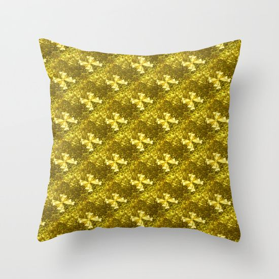 #Society6 Golden Bows  Throw Pillow