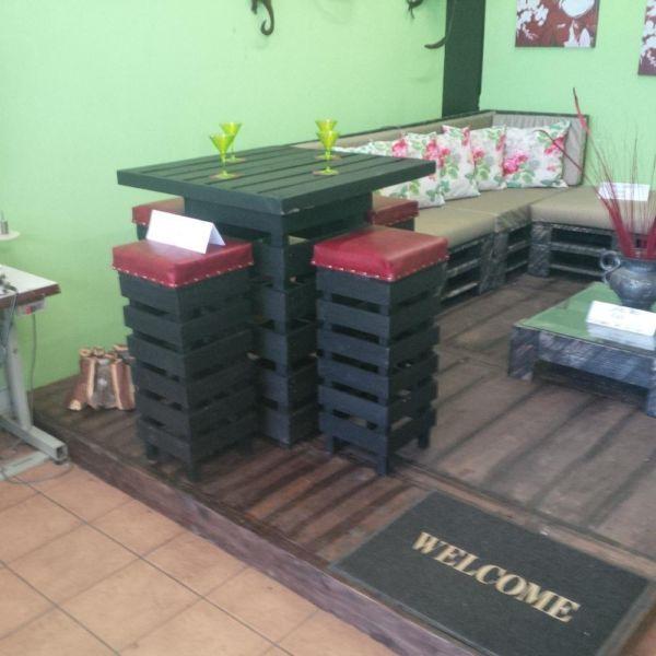 Pallet Patio Furniture | Pallet Patio Furniture/ Bar Set