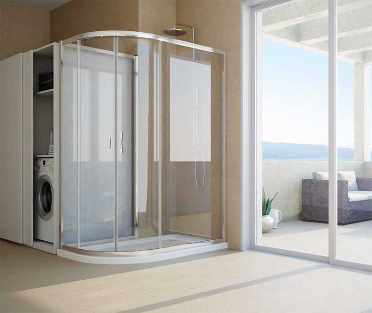 Box #doccia per risega 2 ante scorrevoli semicircolari e lato fisso #Reversibile