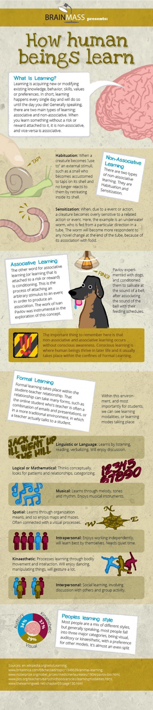 Hoe mensen leren. Een interessante Engelstalige infographic over verschillende leerstijlen. How We Learn [INFOGRAPHIC]
