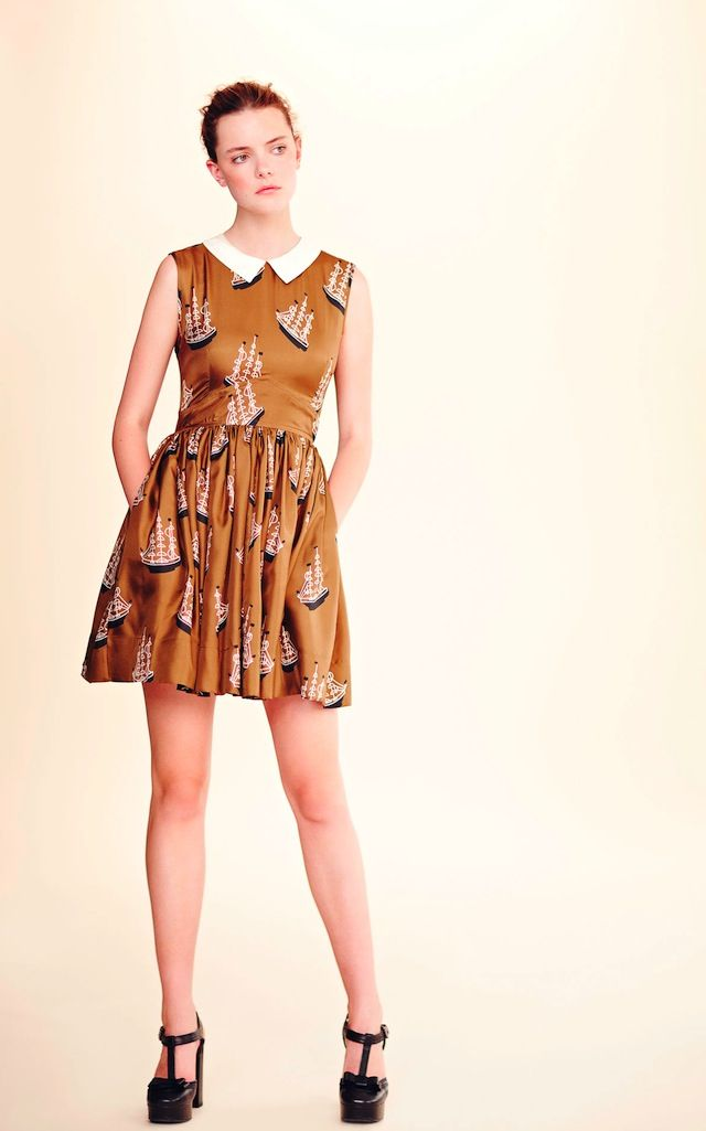 The Terrier and Lobster: Orla Kiely Resort 2013 Boats copy cat, with