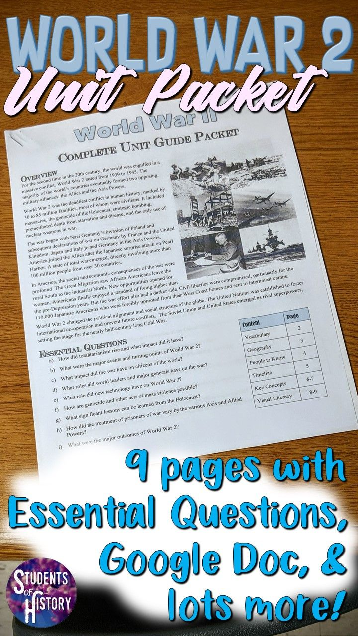 World War 2 Worksheets with Answers   World history teaching [ 1280 x 720 Pixel ]
