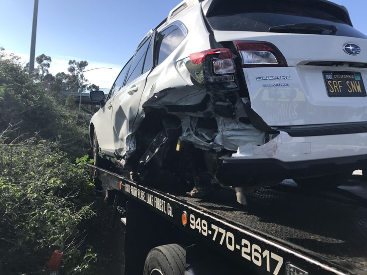 R.I.P..... rear ended and shot across the freeway into a 180 hit another car head on. She saved me. 3.6R she will be missed #subaru #wrx #sti #impreza #forester #subie