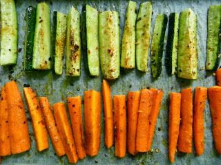 Roasted Zucchini and Carrots - best way to eat these veggies!