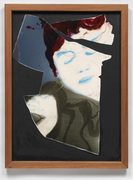 Fractured Augustine, 40 x 30, epoxy resin , pigment on wood, 2012,Eric Finzi
