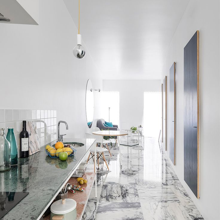 fala atelier redefines apartment as a living gallery in lisbon, nice open kitchen furniture