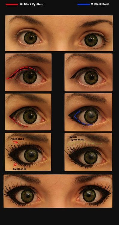 Cosplay-Make up [Gyaru] by ~JackyChip    Handy step by step of eye makeup for female anime characters by sliafb