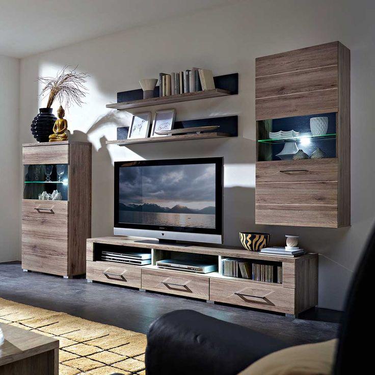 Die besten 25+ San remo eiche Ideen auf Pinterest Garderobe - schrankwand wohnzimmer modern