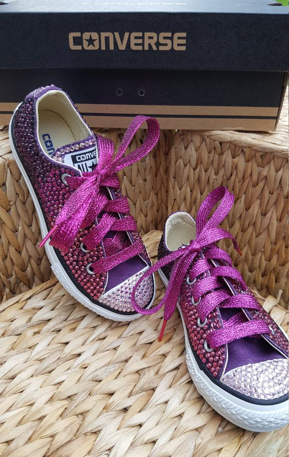 OMBRE Crystal Converse Sneakers for Girls  by LessStressMasSparkle
