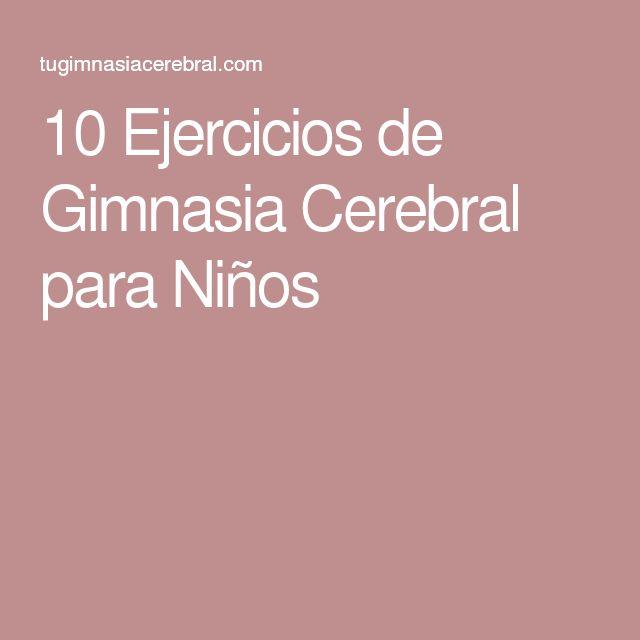 Die besten 25 ejercicios de gimnasia cerebral ideen auf for Ejercicios de gimnasia