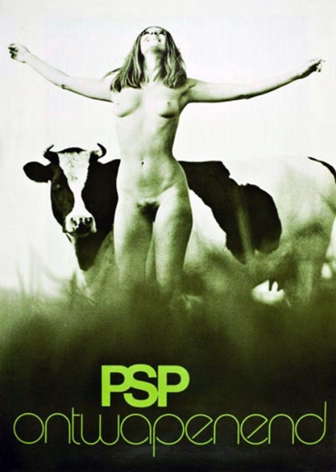 Affiche du PSP (parti socialiste néerlandais), 1971.