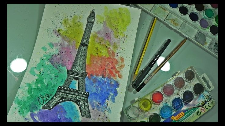 Speed Painting & Drawing: Eiffel Tower