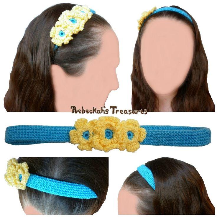 Mejores 142 imágenes de Crochet - Hair Accessories en Pinterest ...