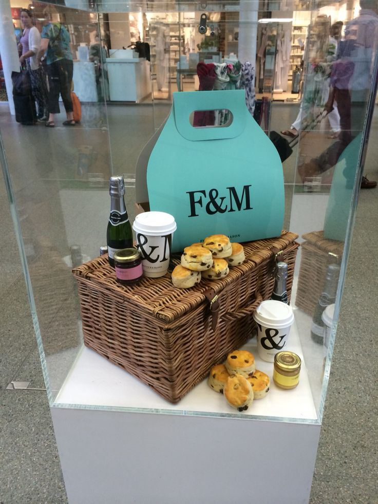 Fortum & Mason our cups on display at St Pancras station