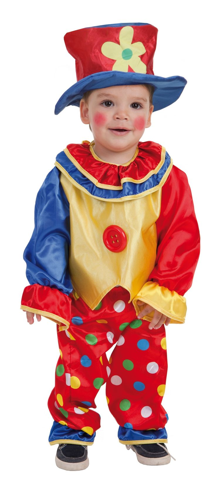 Disfraz de Payaso Pepon. Un divertido #disfraz para tu bebe que podras encontrar en www.disfracesmurillo.es