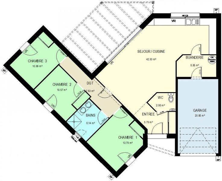 les 7 meilleures images du tableau variation de styles autour d 39 un plan de maison rectangulaire. Black Bedroom Furniture Sets. Home Design Ideas