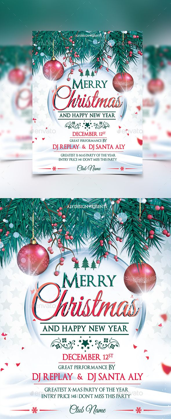 Christmas Flyer — Photoshop PSD #deluxe #winter • Available here → https://graphicriver.net/item/christmas-flyer/13911586?ref=pxcr