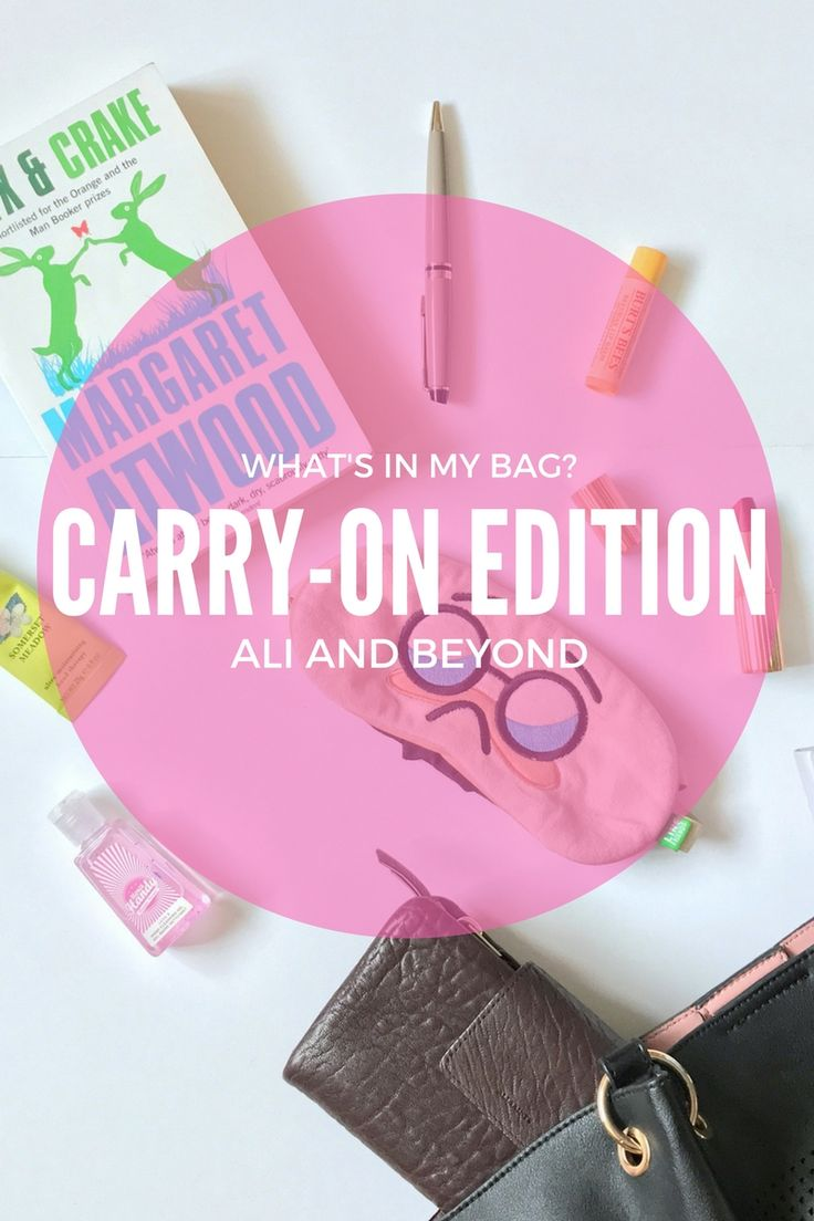What's In My Bag? Carry-On Edition // Ali and Beyond. Essential items that everyone needs in their carry on luggage.  Tips for packing for your holiday!