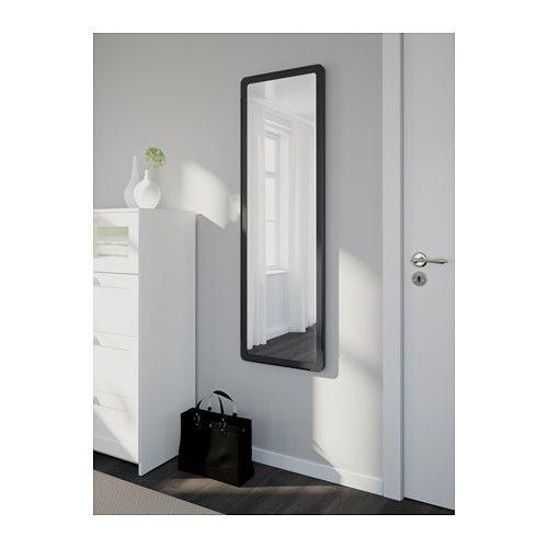 GRUA Mirror, black black 17 3/4x55 1/8